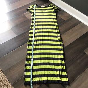 Michael Kors Navy & Green Stripe Maxi Dress - S